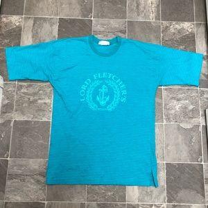Men's vintage 90s striped big logo t shirt sz XL